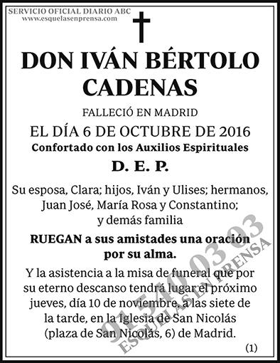 Iván Bértolo Cadenas
